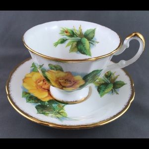 Paragon Yellow Rose Teacup & Saucer Set 1960's